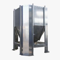 silos componibili per farinacei in lamiera zincata