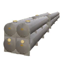 2 - Impianto con struttura a selle in acciaio. Impianto installato a Milano