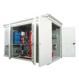 L'impianto è completo di BOX POMPE.