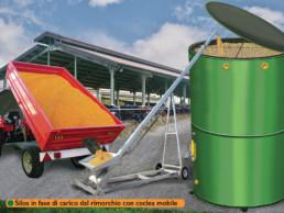 silos in fase di carico con coclea